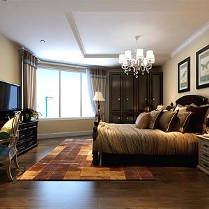 时代奥城美式风格卧室装修效果图