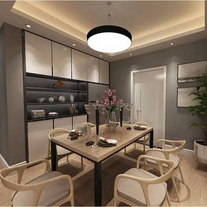 江山樾110 m²现代简约装修效果图