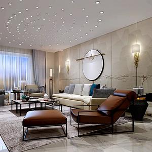 K2玉兰湾180平米三居室新中式风格装修效果图