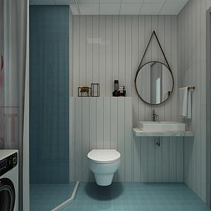 现代简约风格-卫生间-装修效果图