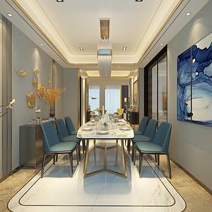 港式轻奢风格餐厅装修设计