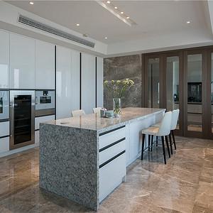 置信天玺600平现代轻奢设计装修效果图-厨房