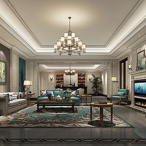 3200㎡法式新古典风格客厅