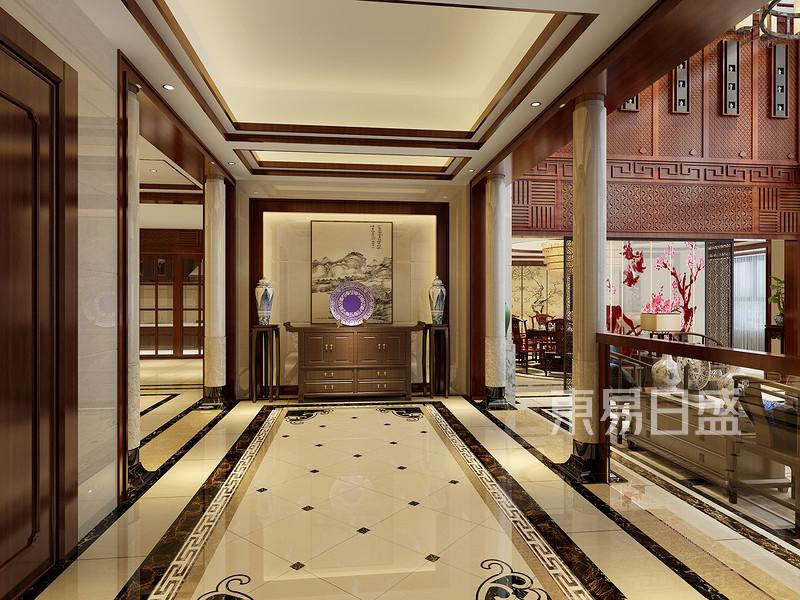中式风格装修效果图-门厅
