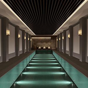新中式-泳池-装修效果图