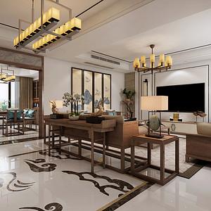 祥龙花园  欧式古典风格 140平米 三室两厅装修