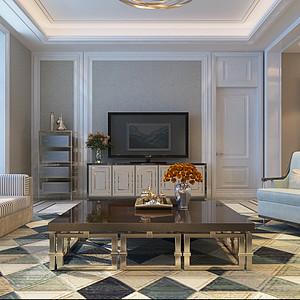 后奢华风格-客厅-装修效果图