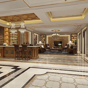 692㎡别墅欧式风格负一楼品酒区