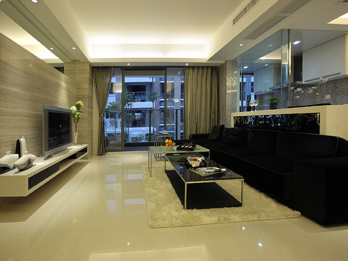 观澜国际现代简约风格124平米设计