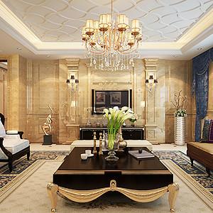 万科金域曲江 新古典装修效果图 五室两厅两厨三卫