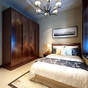 亿城堂庭新中式风格卧室装修效果图