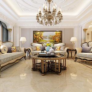 新古典-客厅沙发背景墙