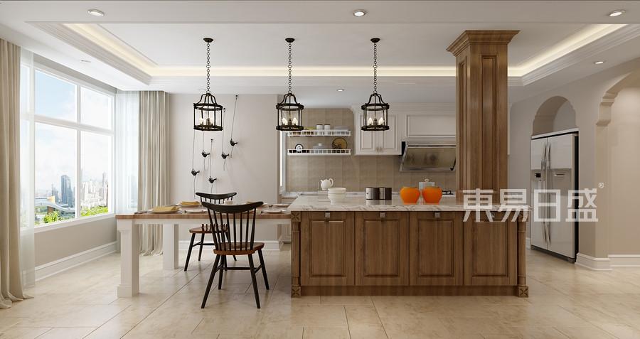 三房兩廳兩衛-現代美式風格-廚房裝修效果圖