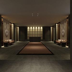 新中式-门厅-装修效果图