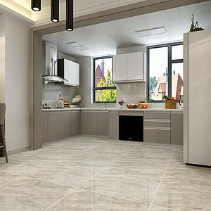 轻奢风格-厨房-装修效果图