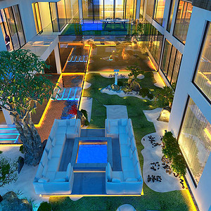 宜兴江南和苑-现代-庭院
