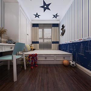 中海复兴九里新中式风格儿童房效果图