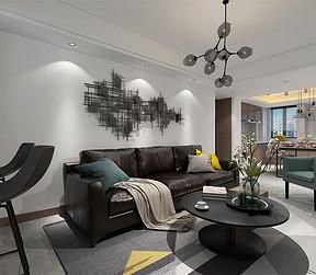 朗诗未来街区110m²现代简约客厅
