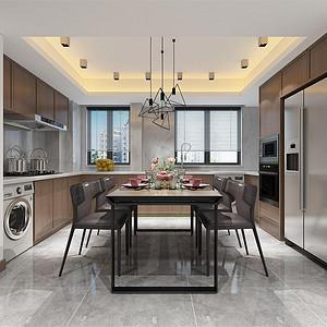朗诗未来街区110m²现代简约餐厅
