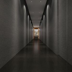 新中式-走廊-装修效果图