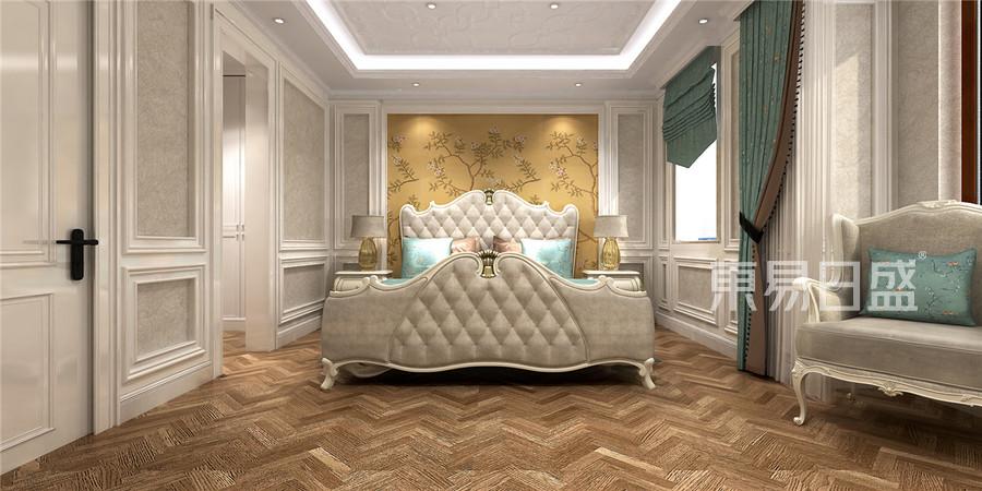 天房锦园简美风格主卧室装修效果图