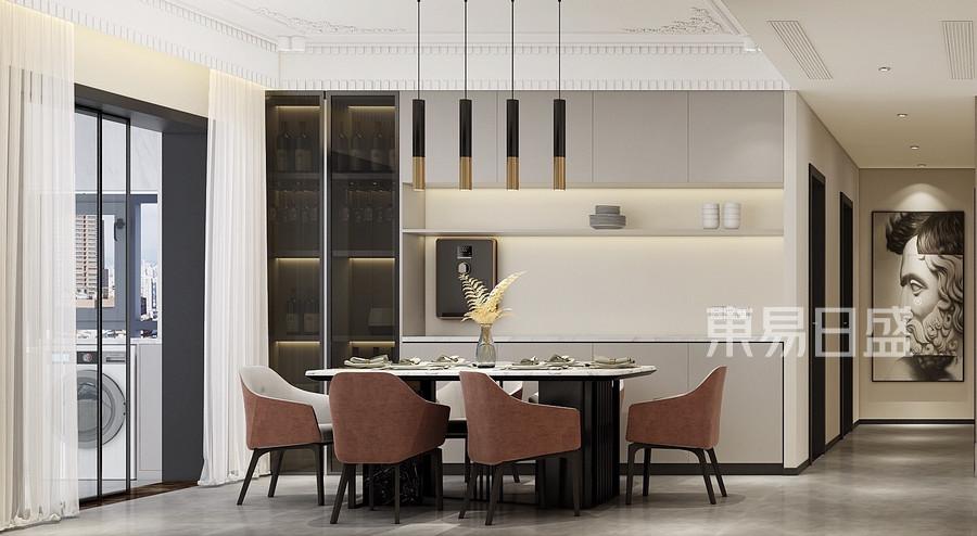 簡歐風格餐廳裝修設計