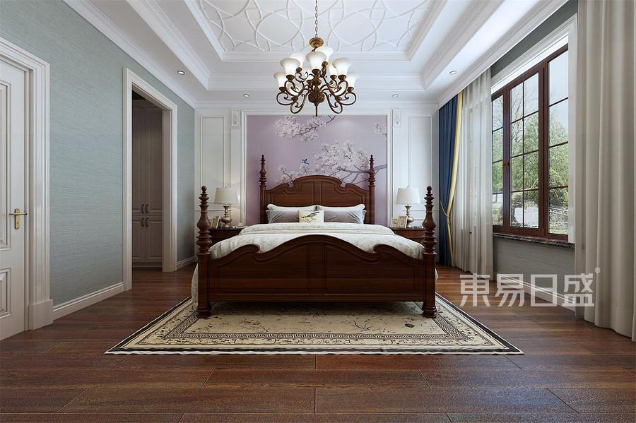 155平中海公园城丽湖苑美式风格卧室装修效果图