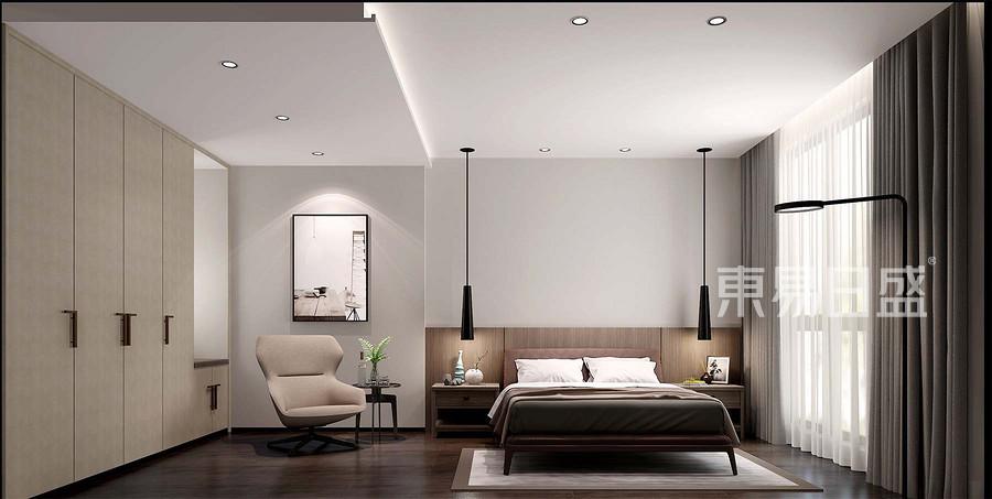 新极简风格卧室装修设计效果图_2018装修案例图片