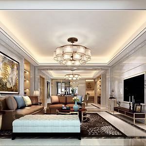 玖如堂 新古典风格装修效果图 普通住宅 148㎡
