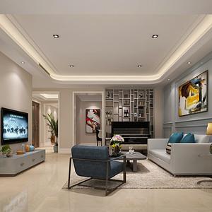 博林天瑞  混搭风格装修效果图 171平米三居室
