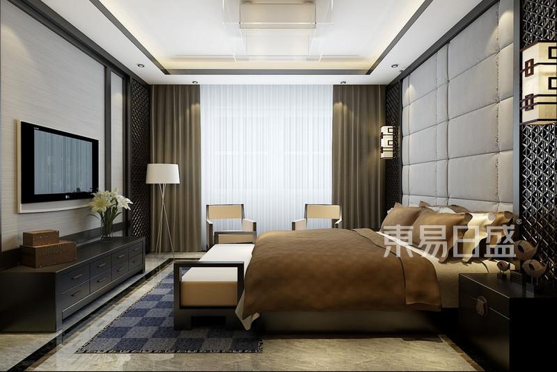 卧室效果图-新中式