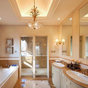 美式新古典二楼卫生间1