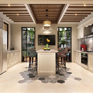 简美装修风格厨房效果图