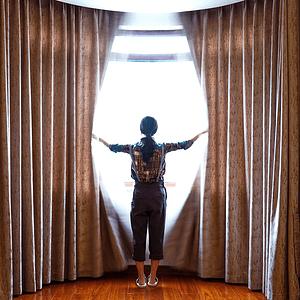 别墅-新中式-次卧窗帘
