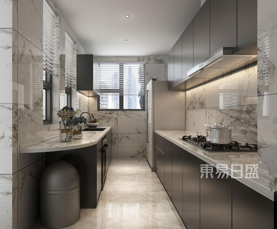 金泽华府240平四室三厅现代风格厨房装修效果图@太原东易日盛
