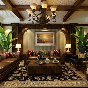 汉王府别墅美式风格装修案例
