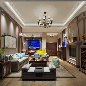 碧桂园385平米美式风格别墅