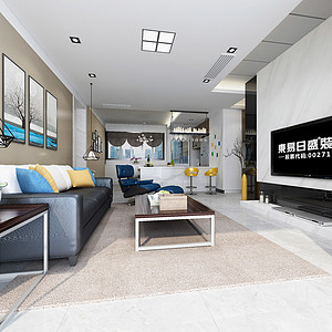 东城鼎峰尚境装修案例-120㎡现代简约风格四房二厅装修效果图
