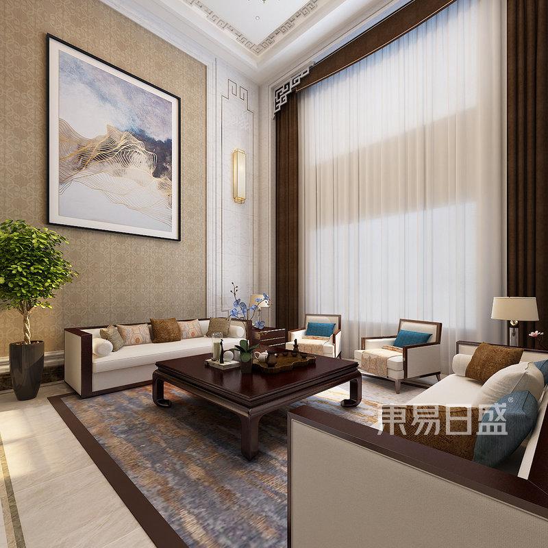 现代简中客厅沙发背景墙效果图_装修效果图大全2018