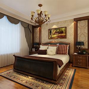 天鹅湖古典美式风格卧室装修效果图