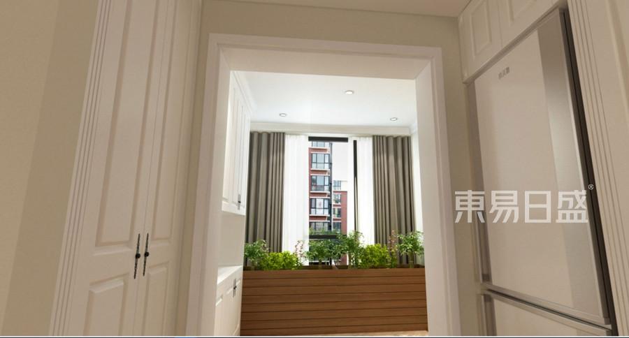 95㎡两居  现代风格装修  阳台装修实景图