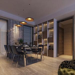 四房二厅现代简约餐厅装修效果图