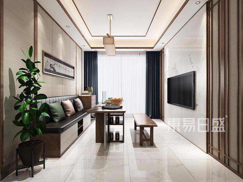东城天骄御峰现代混搭客厅装修效果图