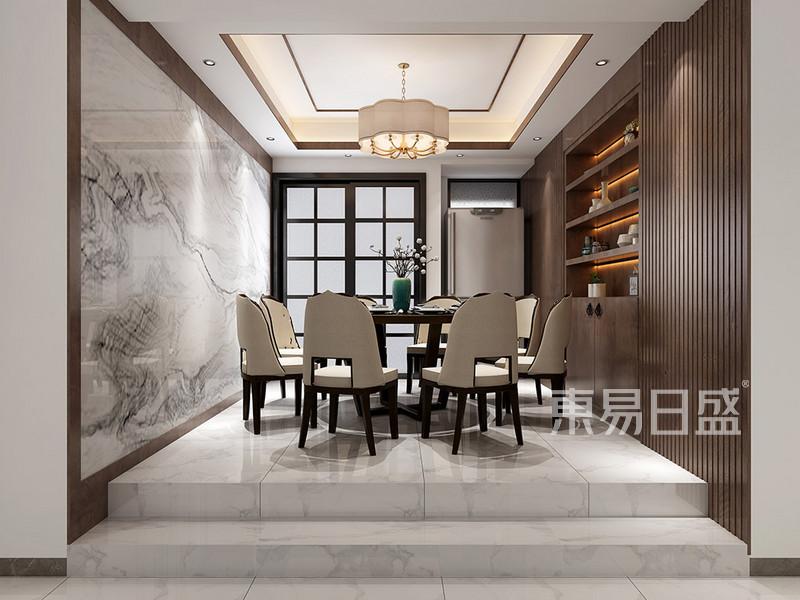 东城天骄御峰现代混搭餐厅装修效果图