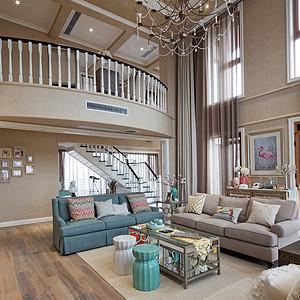 硅谷别墅-美式小美风格-348㎡-平面装修效果图