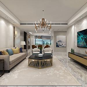 扬州锦苑133平三室两卫两厅简欧风格
