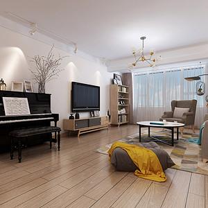 北欧装修风格客厅效果图
