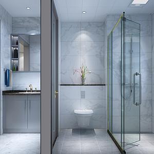 北欧风格-卫生间-装修效果图