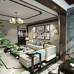 正誉绿谷-110㎡新中式风格