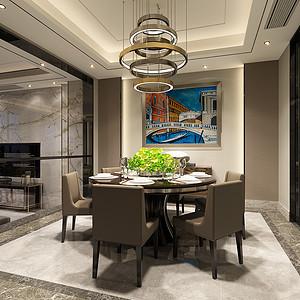 现代轻奢客厅装修效果图-第25页 西安现代前卫餐厅装饰效果图 西安现